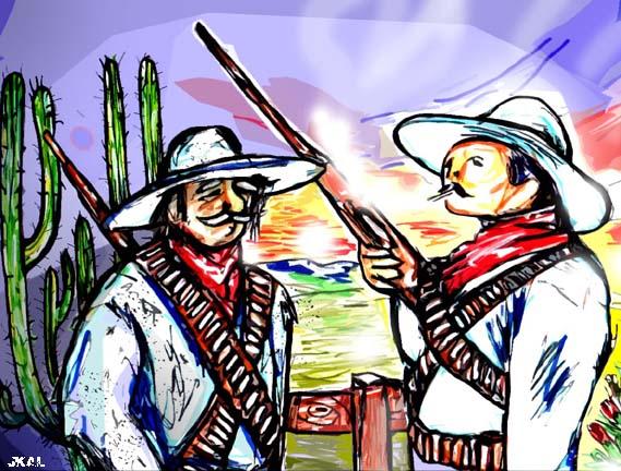 Dos revolucionarios.